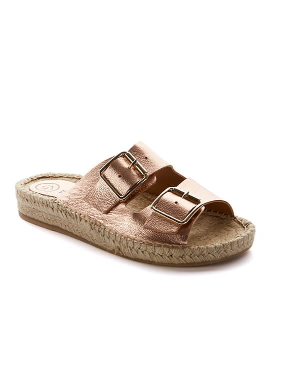 c3839e734a BIO ROSA are beautiful handmade espadrilles in Spain. They are designed in  pink metallic leather with a handmade jute sole with a 2 cm wedge and a 3  cm ...