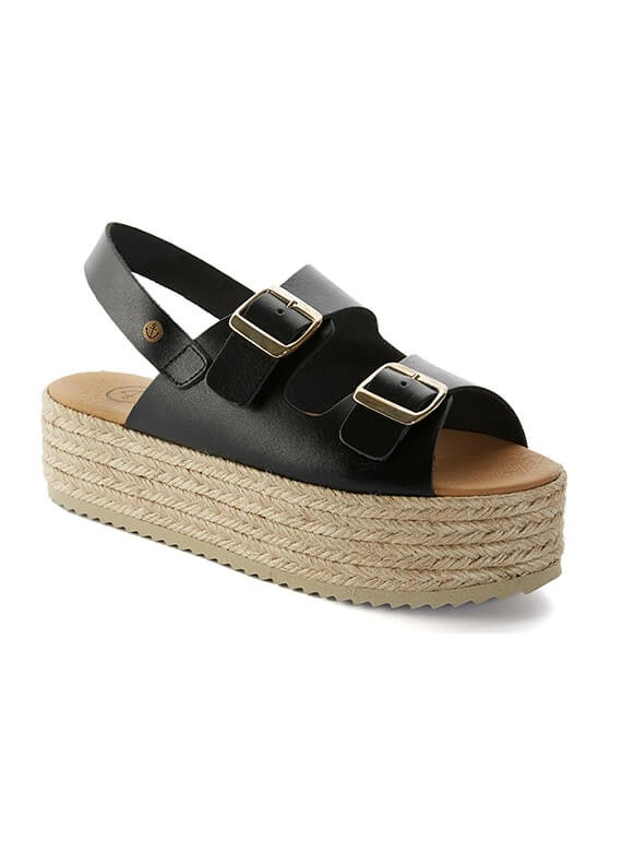553599417d BIO TR NEGRO are beautiful women's espadrilles handmade by artisans from  Spain. These sandals have a fantastic design in black cowhide and a natural  jute ...