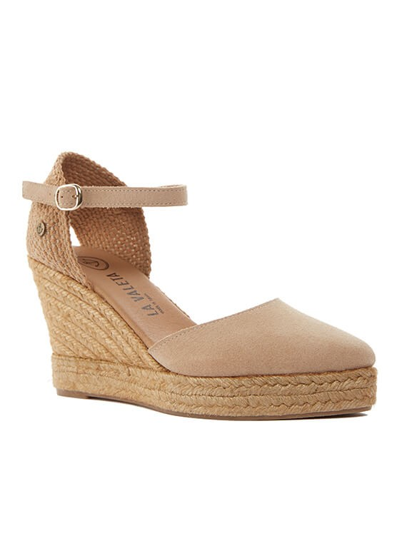 c2a93467e49 Sofía Nude | Nude Espadrille Sandals With Wedge